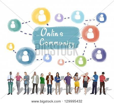 Online Community Sharing Communication Society Concept