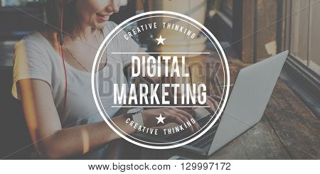 Digital Marketing Viral Branding Advertising Concept