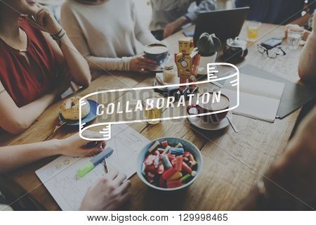 Collaboration Corporate Collaborate Teamwork Partnership Concept