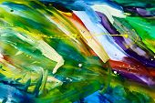 stock photo of dessin  - Abstract chaos painting design wallpaper painted by me - JPG