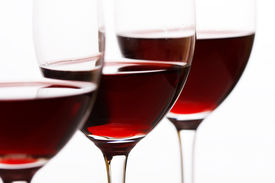 picture of red wine  - glasses of red wine - JPG