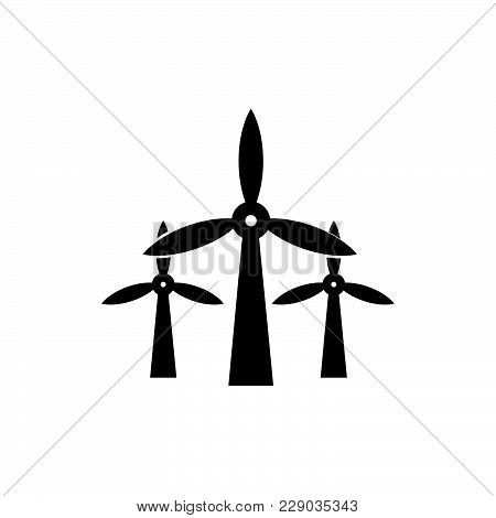Wind Mills Icon Isolated On