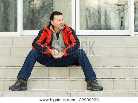 Sitting Man.