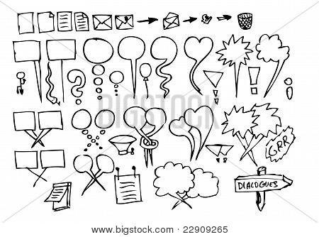 Hand Drawn Dialog Icons