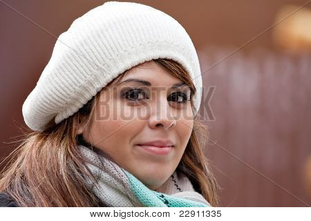 Smiling Brunette Woman