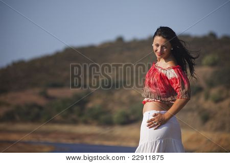 Woman On A Nature Walk
