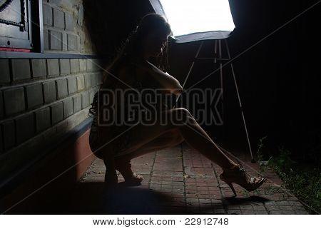 Female in night