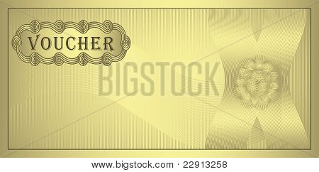 raster Voucher gold coupon