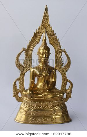 Gold Image Of Buddha