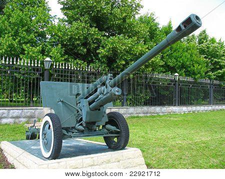 Old Anti-tank Cannon Gun Monument