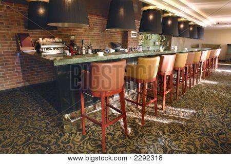 Cozy Small Bar In Modern Hotel