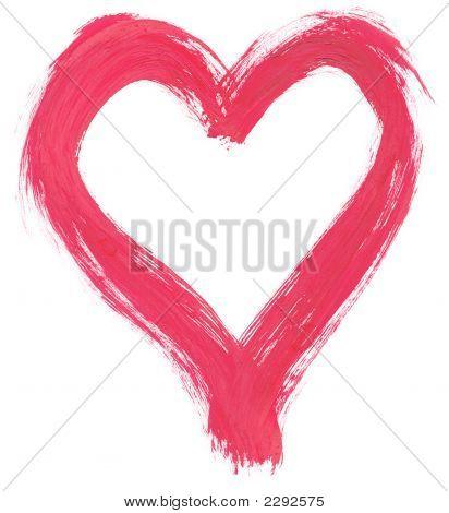 Pink Handpainted Heart