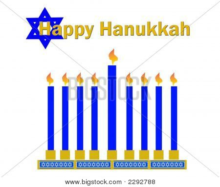 Happy Hanukkah White Bkgrd