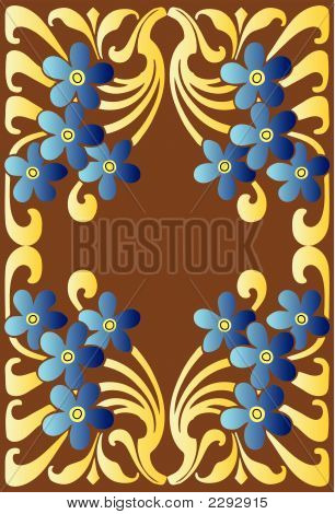 Blue Flower Decorative Pattern