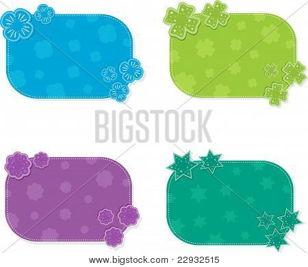Set of colorful cards, vector illustration