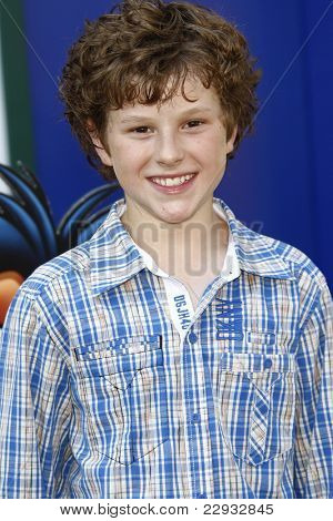 LOS ANGELES - AUG 27: Nolan Gould at the premiere of Walt Disney Studios' 'The Lion King 3D' on August 27, 2011 in Los Angeles, California
