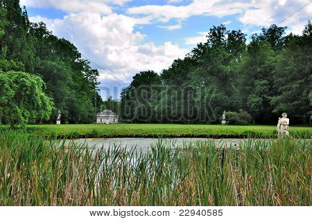 Lake Of Schloss Fasanarie Park In Fulda, Hessen, Germany