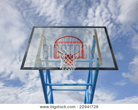 Basketball rim and net
