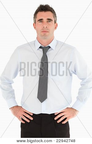 Portrait Of A Manager Posing