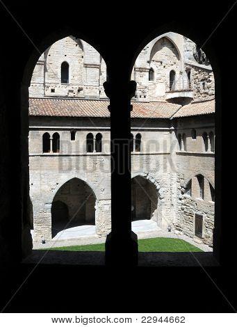 The Palais Des Papes In Avignon, France