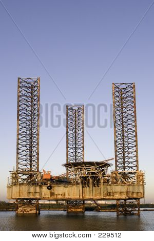 Oil Rig Rusting