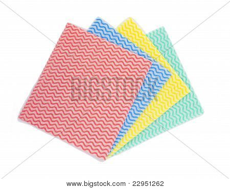 Color napkins isolated on white
