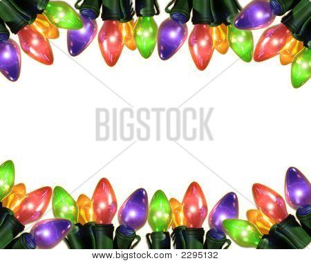 Colorful Bulbs On White Ground