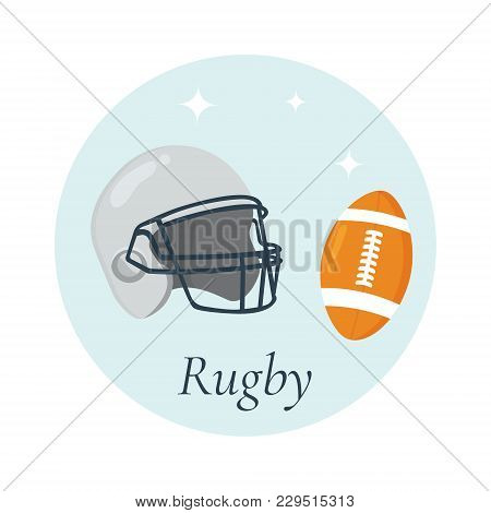 Vector Illustration Of Helmet And