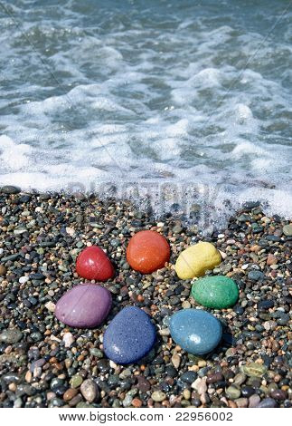 Pebble rainbow