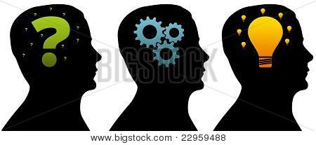 Silhouette Head - Thinking Process