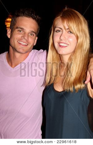 LOS ANGELES - AUG 26:  Greg Rikaart, Yvonne Zima attending the Young & Restless Fan Dinner 2011 at the Universal Sheraton Hotel on August 26, 2011 in Los Angeles, CA