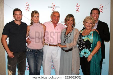 LOS ANGELES - AUG 26:  Billy Miller, E Davidson, Jerry Douglas, Jess Walton, Beth Maitland, Peter Bergman  at the Y&R Event 2011 at the Universal Sheraton Hotel on August 26, 2011 in Los Angeles, CA
