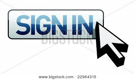sign in button illustration design