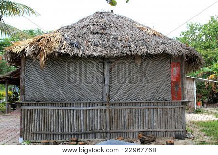 cabin palapa wooden hut traditional from Mexico palafito house