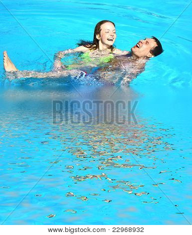 Lovers Swimming
