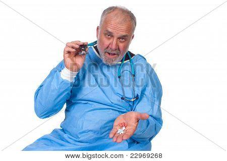 Doctor explaining