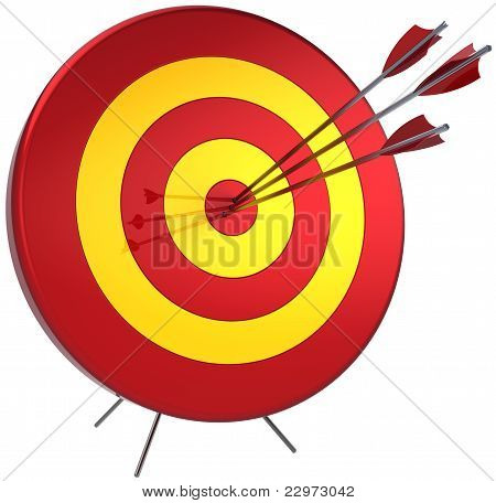 Success target lucky shooting concept