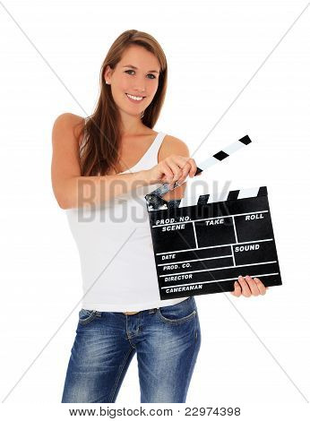 Using clapperboard