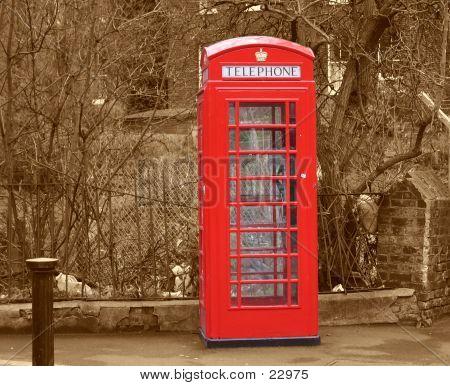 Phone Booth Box Sephia
