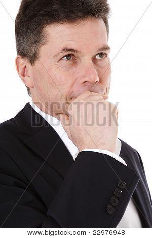 Deliberating man