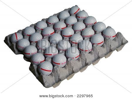 Golf Balls In Eggs Holder
