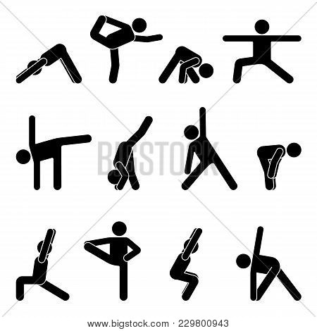 Stick Figure Basic Yoga Position
