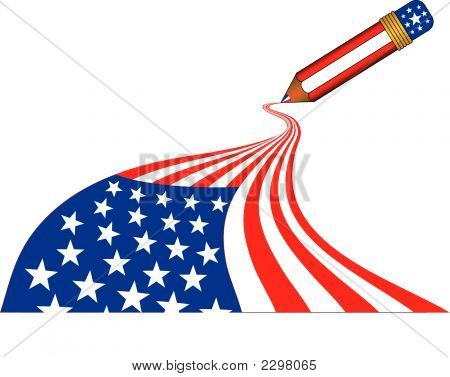 Magic Pencil - Usa (Vector)