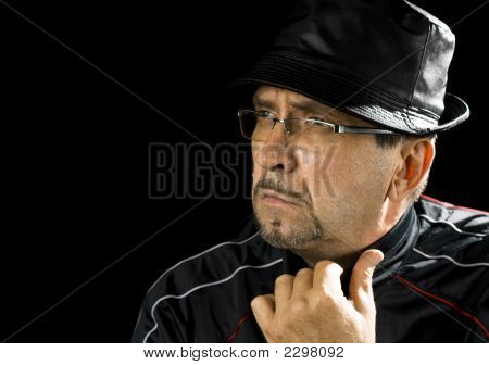 Pensive Man With Hat