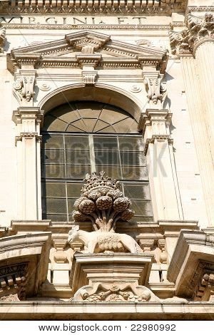 Baroque Detail - St.irene Church In Lecce, Apulia - Italy