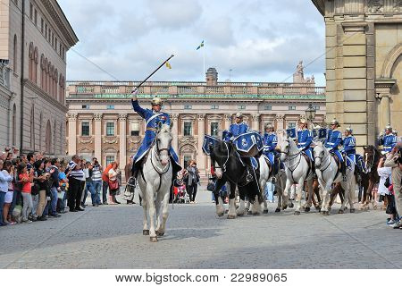 Stockholm. Changing Of The Guard Ceremony