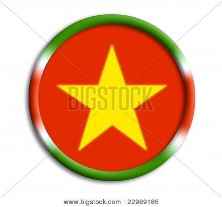 Suriname button shield on white background