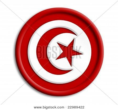 Turkey button shield on white background