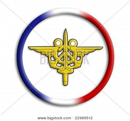 France button shield on white background