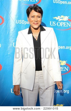 FLUSHING, NY - AUGUST 29: Robin Roberts attends the Opening Night Ceremonies for the 2011 US Open at the USTA Billie Jean King National Tennis Center on August 29, 2011 in Flushing, New York.
